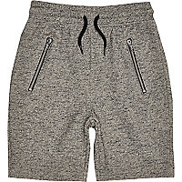 Boys grey casual zip pocket shorts