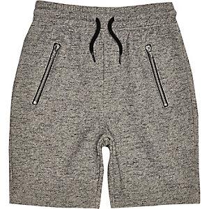 Boys grey casual zip pocket shorts