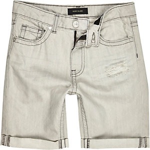 Boys grey denim shorts