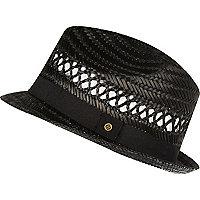 Chapeau de paille noir pour garçon