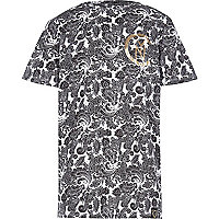 Boys wild side paisley print t-shirt