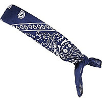 Boys navy printed bandana