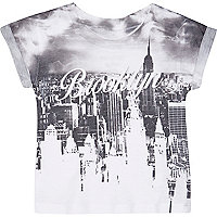 Mini boys grey Brooklyn short sleeve t-shirt