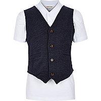 Boys baseball t-shirt and waistcoat set