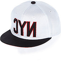 Boys white NYC mesh cap