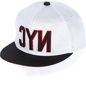 Boys white NYC mesh cap