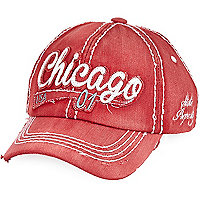 Boys red Chicago cap