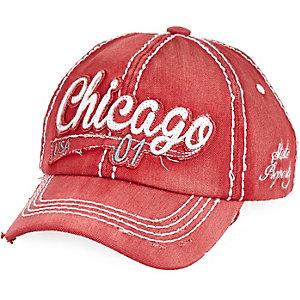 Boys red Chicago cap