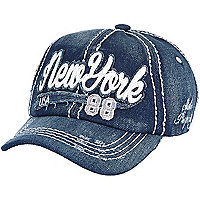 Boys dark denim New York cap