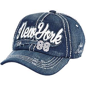 Boys dark denim New York cap