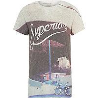 Boys white superior bike print t-shirt