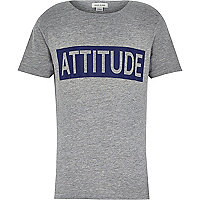 Boys grey attitude flock t-shirt