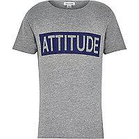 Boys grey attitude flock t-shirt