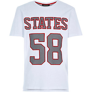 Boys white states 58 sporty t-shirt