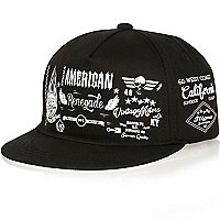 Boys black American cap