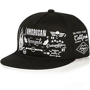 Boys black American cap