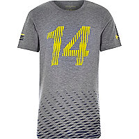 Boys grey short sleeve 14 sporty t-shirt