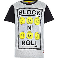 Boys Lego block 'n' roll slogan t-shirt