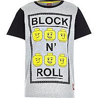 Boys Lego block 'n' roll slogan t-shirt