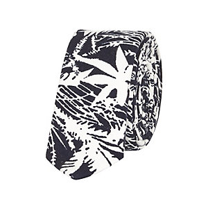 Boys black Hawaiian print tie