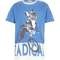 Boys blue radical dog print t-shirt