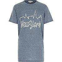 Boys blue New York print t-shirt