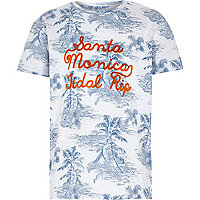 Boys blue Santa Monica palm tree t-shirt
