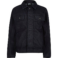 Boys dark blue denim jacket