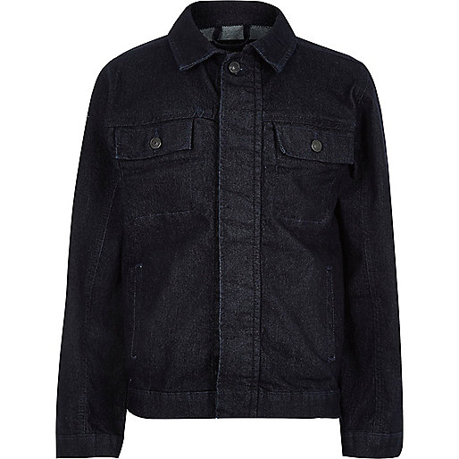 Boys Black Denim Jacket - JacketIn
