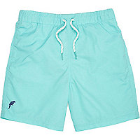 Boys turquoise green swim shorts