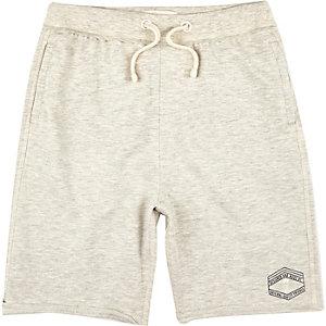Boys ecru jersey shorts
