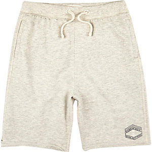 Boys ecru jersey shorts