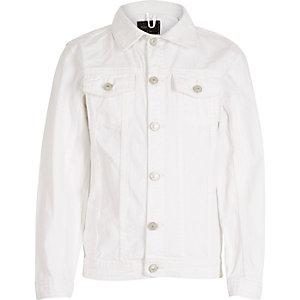 Kids white denim jacket