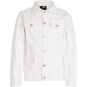 Veste en jean blanc pour enfant