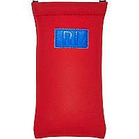 Boys red scuba sunglasses case