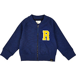 Mini boys blue sporty bomber jacket