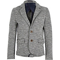 Boys grey neppy jersey blazer