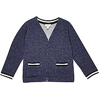 Mini boys blue cardigan