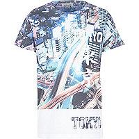 Boys white Tokyo city print t-shirt