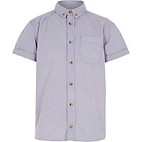 Boys purple acid wash short sleeve shirt