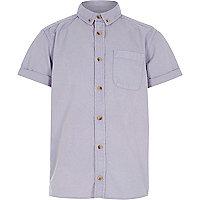 Boys purple acid wash short sleeve shirt