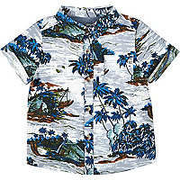 Mini boys Hawaiian print shirt