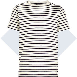 Boys blue breton stripe t-shirt
