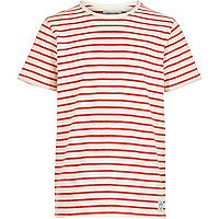 Boys red breton stripe t-shirt
