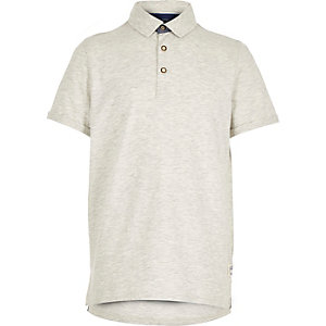 Boys grey polo shirt