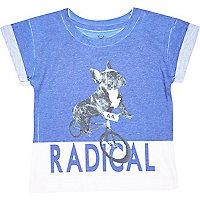 Mini boys blue radical dog t-shirt