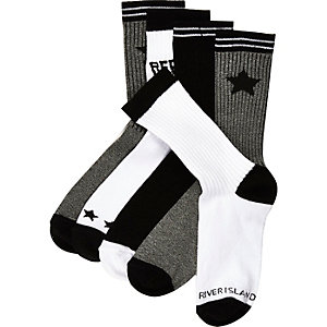 Boys black socks pack