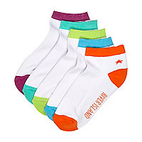 Boys white trainer socks pack