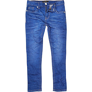 Boys bright wash Sid skinny jeans