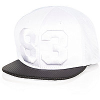 Mini boys white 83 mesh cap